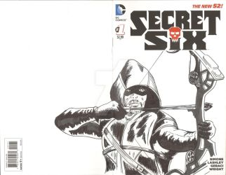 Secret Six Sketch Cover Green Arrow by mentaldiversions