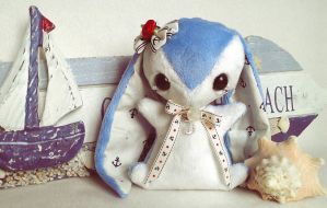 Lorelei - Teacup Bunny Plush - sold by tiny-tea-party