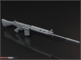 L1A1 SLR - View 1 by Quiggers