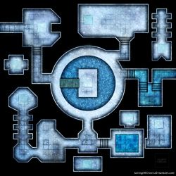 Clean ice dungeon battlemap for DnD / roll20 by SavingThrower