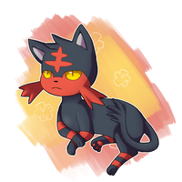 Litten by Quarbie