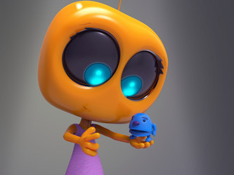 Zbrush Doodle Day 892 - Robot Kid Series 26 by UnexpectedToy
