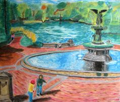 Central Park Fountain by stillvisions