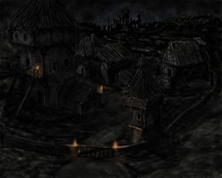 Village near The Town by laspinter