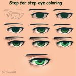 Step for step eye coloring by ImoonArt