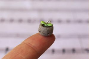Tiny Potted Sprout Charm by ChloeeeeLynnee97