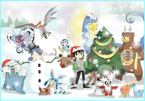 [SpeedArt] A Christmas Special (with Pokemon!) by JaidenAnimations
