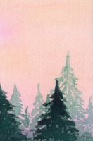Pine trees  (V) by lifeislikeajoke