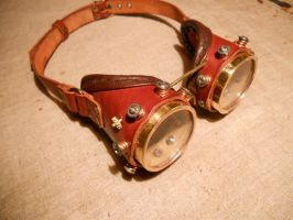 Latest steampunk goggles. by ChanceZero