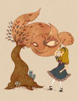 Alice and the Cheshire Cat by superjet009