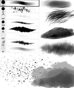 Random brushes by calleena