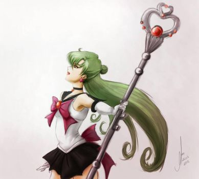 Sailor Pluto Ilustration Practice by MaochanHime