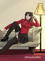 Rin On A Couch by Kiraririn