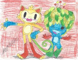 Rio 2016 Mascots by brookellyn