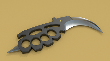 KBK (Karambit Brass Knuckles) View 3 by Shadow696