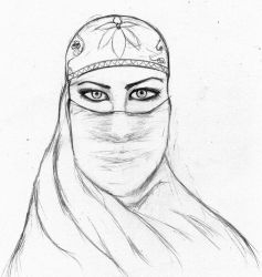 The veiled woman by Addy-bose