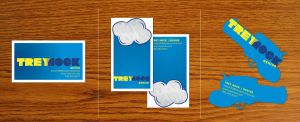 TREYHOCK business cards by wingless730
