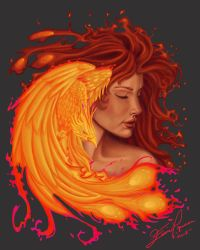 Phoenix Colored by Leunicey
