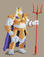 Asgore by lord-mondragon