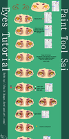 Eyes Tutorial Paint Tool Sai by HaitiKage