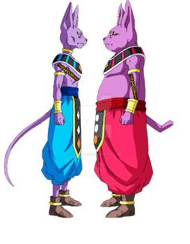 Beerus and Champa Standoff Render HD by TheArcosian