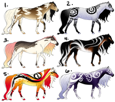 Mixed Equine Adopts (Points Only) - CLOSED by Drasayer