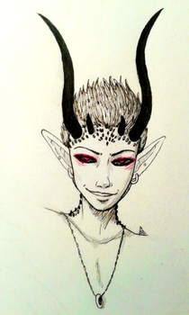 Inktober - Day 8 - The Demon by the-attic-keeper