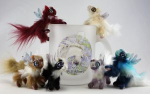Mini Poseable Fairy Dragon Art Dolls by M-J-Albert
