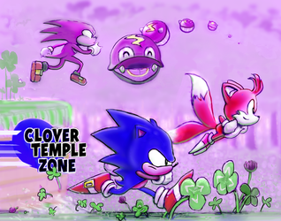 SONIC - CLOVER TEMPLE ZONE by modji-33