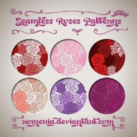 Seamless Roses Patterns by Romenig