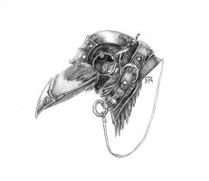 Steampunk Crow by EzekielCrowe