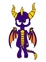 Spyro collab with spongedragon15 by BluethornWolf