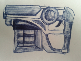 Gun Pen Sketch by Flashkirby-99