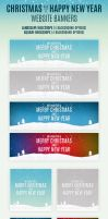 Christmas And Happy New Year Website Banners by webduckdesign