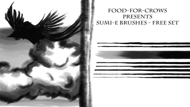 Sumi-e Brushes - Free by Food-For-Crows