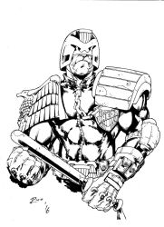 Dredd sketch from International Comics Expo by pencilsandstrings