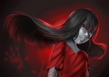The Girl in Red by pikadiana