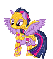 Twilight Knight ( My little portal amour) by Law44444