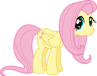 Poutyface Fluttershy [Animated] by VladimirMacHolzraum
