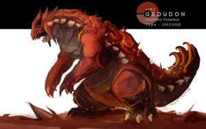 Groudon by MrRedButcher