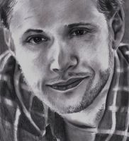 (Pencil drawing) Jensen Ackles - Smile by LinaKaye