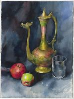 Still life with the Indian teapot by OlgaSternik