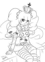 Perona Line Art [Request] by ViewtifulJoeX