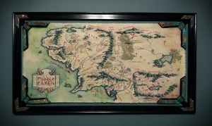 Middle Earth Canvas Map by onlychasing-safety