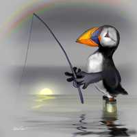 Gone fishing by altergromit