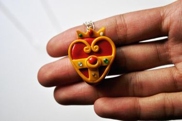 Cosmic Heart Necklace by eserenitia