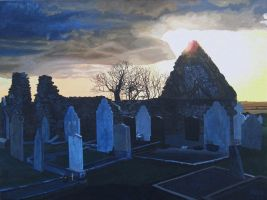 Old Church in Churchtown South by eastcorkpainter