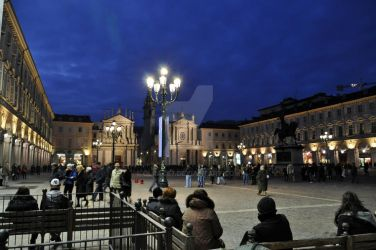 Piazza S.Carlo Blue Hour I by Olrac87