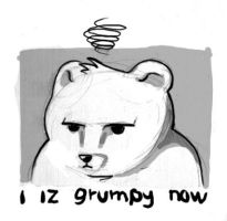 Grumpy Bear by ArceDeer