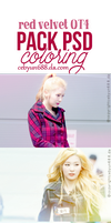 PACK PSD COLORING RED VELVET by CeByun688